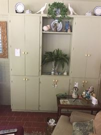 Large storage cabinets in great shape...Two pieces, so easy to move