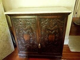 Stunning antique oriental cabinet