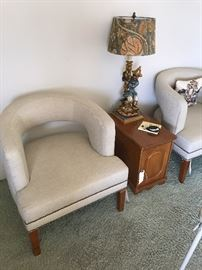 Mid century style chairs - Vintage hollywood regency style lamp