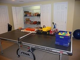 Ping Pong Table and Toys