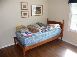 Twin Bed and Linens