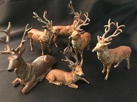antique metal deer