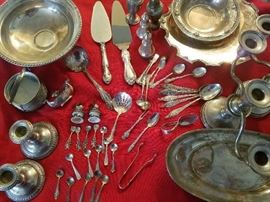 Mostly Sterling with few pieces plated