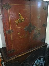 Antique Asian cabinet (open in back).