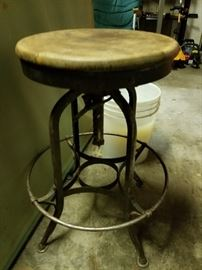 Antique drafting stool.