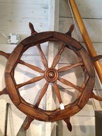 Ship's wheel decor