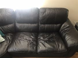 Bob's Sectional Leather Couch -