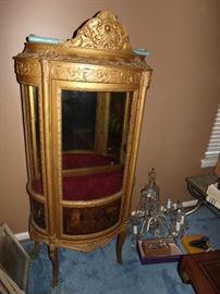 Vintage French Vitrine Curio Cabinet