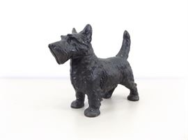 Vintage Cast Iron Scottich Terrier Doorstop