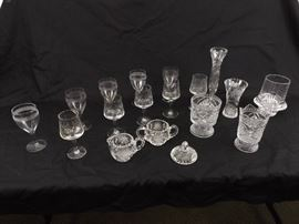 Large lot of Vintage and Antique Crystal