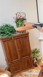 Television armoire.  Turn it into a linen closet or hidden office.