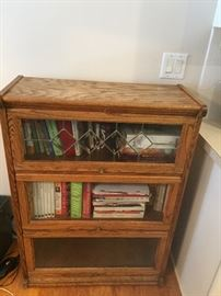 stained glass oak wood  Lawyers Barrister / Bookcase