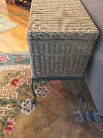 wicker storage check on metal base.  There is a pair of these.
