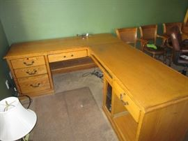 VINTAGE OAK OFFICE SET