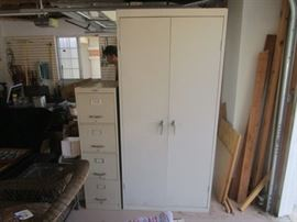 METAL FILING AND STORAGE CABINET
