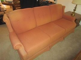 VINTAGE COUCH IN ORANGE FABRIC