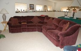 """VERY NICE """"L"""" Shape Sectional with Recliners Built In"""
