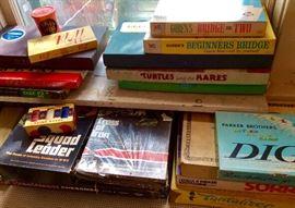 Selection of vintage board games.