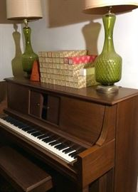 The Sting contemporary player piano with Standard Player Action with bench.