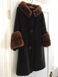 Wool coat with fur trim!
