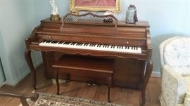In 1936 Baldwin introduced the Acrosonic Spinet piano, which was to become the largest selling piano type of all time.  In 2005 it stopped being manufactured.  It is still the most popular, and sought after