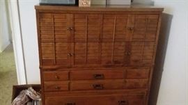 Dresser with matching highboy and bed
