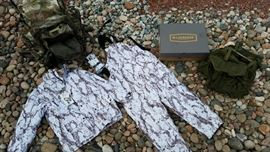 New Winter Hunting Bibs, Parka, Gloves, Army Back Pack, Hunting Boots