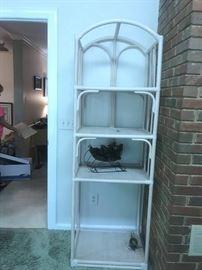 #15Rattan 4 shelf Display Cabinet   24x18x76 $75.00