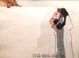 El Taller by Amado Pena   Signed 1988 Print
