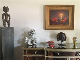 African Art, Foo Dogs, Jackson Oil Painting, Orient and Flume Art Glass