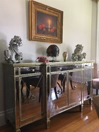 Mirrored Credenza (pair available)