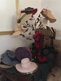 Loads of vintage and antique hats in the Hat Room!!