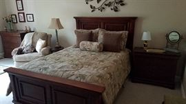 Reverie adjustable queen size frame, mattress with headboard/footboard