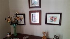 framed watercolors