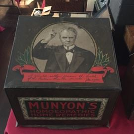 Munyon's Homoeopathic Home Remedies tin advertising box