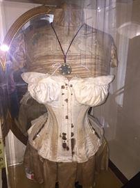 19th C. Corseted Manaquin in plexiglass case