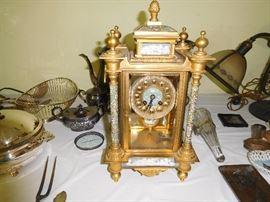 Cloisonné Champleve clock