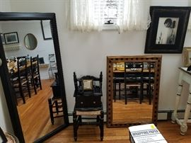 GORGEOUS heavy quality mirrors, art acxent chair, frames