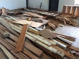 Lots of pieces of wood, trim, molding, all great for projects