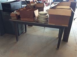 Wonderful metal tables, great for shops
