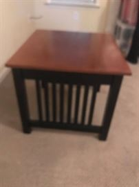 #10	Black/Wood Spindle Side End Table  26x24x21	 $75.00