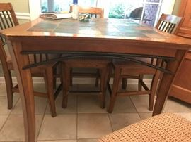 #11	Tall Kitchen Table with Tile Top  44x36	 $220.00