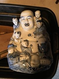 Chinese Porcelain Liu Hai Hotei Figurine (vintage)