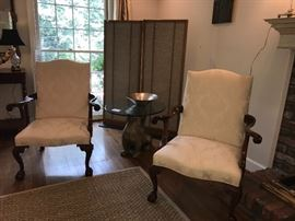 Pair of chairs are no longer for sale.  Homeowner is keeping.