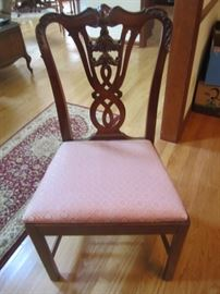 DETAIL OF DINING ROOM CHAIR