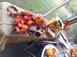Halloween items and decor