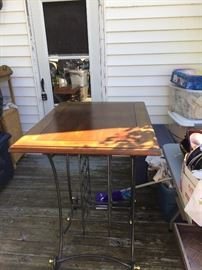 Bar height wine rack table
