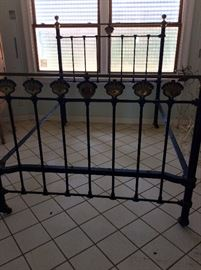 Full Size Brass Bed.