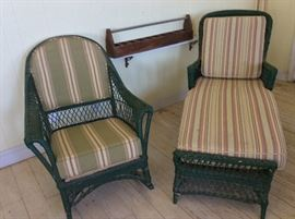 Haywood Wakefield Chaise Lounge and Rocking Chair.
