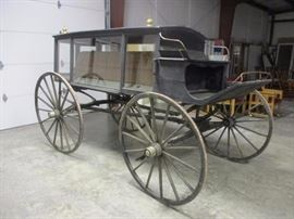 Classic antique funeral carriage